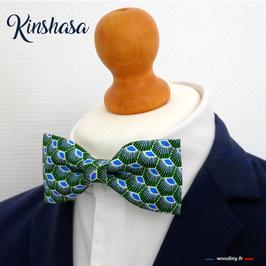 "Noeud papillon vert ""Kinshasa"""