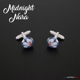 """Boutons de manchette """"Midnight Nara"""""""