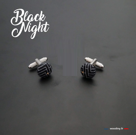 "Boutons de manchette ""Black Night"""