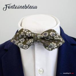 """Noeud papillon vert """"Fontainebleau"""""""