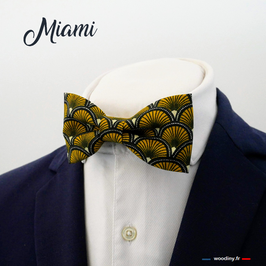 "Noeud papillon éventail jaune ""Miami"""