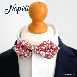 "Noeud papillon rouge ""Napoli"""