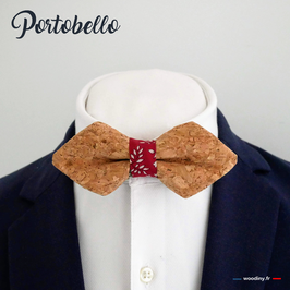 "Noeud papillon en liège ""Portobello"" - forme en pointe"