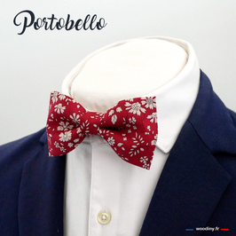 "Noeud papillon rouge grenat ""Portobello"""
