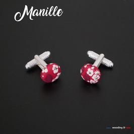 """Boutons de manchette """"Manille"""""""