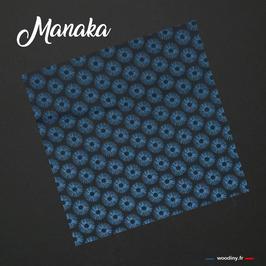 """Pochette de costume bleue """"Manaka"""""""