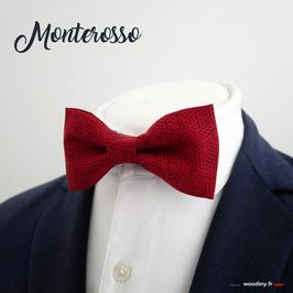 """Noeud papillon rouge """"Monterosso"""""""