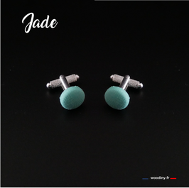 "Boutons de manchette ""Jade"""