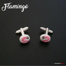 """Boutons de manchette """"Flamingo"""""""