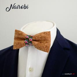 "Noeud papillon en liège ""Nairobi"""