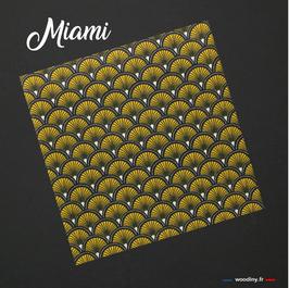 """Pochette de costume jaune """"Miami"""""""