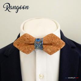"""Noeud papillon en liège """"Rangoon"""" - forme en pointe"""