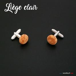 """Boutons de manchette """"Liège clair"""""""