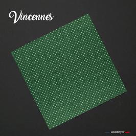"""Pochette de costume verte à pois blanc """"Vincennes"""""""
