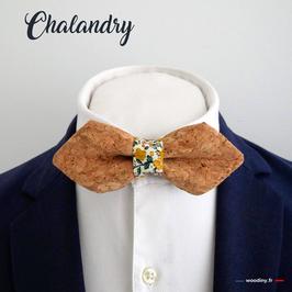 """Noeud papillon liège """"Chalandry"""" - forme en pointe"""