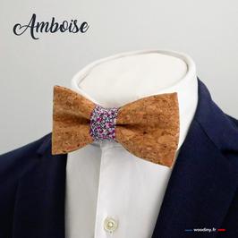 "Noeud papillon liège ""Amboise"""