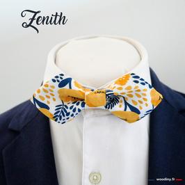 """Noeud papillon jaune """"Zenith"""" - forme en pointe"""