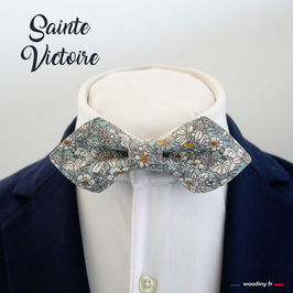 "Noeud papillon fleuri ""Sainte Victoire"" - forme en pointe"