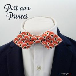 """Noeud papillon orange """"Port aux Princes"""""""