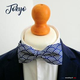 "Noeud papillon bleu ""Tokyo"""