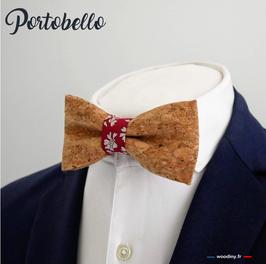 "Noeud papillon en liège ""Portobello"""