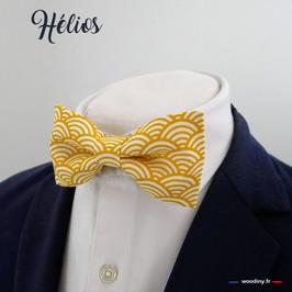 "Noeud papillon jaune ""Helios"""