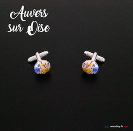 """Boutons de manchette """"Auvers sur Oise"""""""