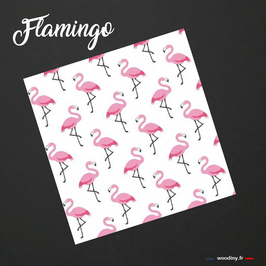 "Pochette de costume rose et blanche ""Flamingo"""
