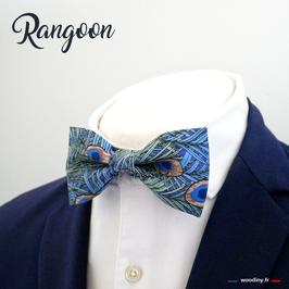 "Noeud papillon plume de paon ""Rangoon"""