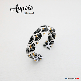 """Bracelet en tissu noir """"Appolo"""""""