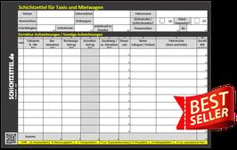 Schichtzettelblock 2.0 für Taxis und Mietwagen (alte Version)