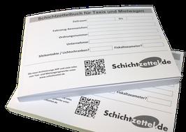 Schichtzettelbuch 2.0 für Taxis und Mietwagen