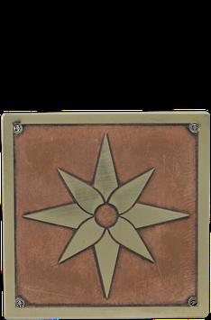 Beschlag Quadrat Magica Verkupfert