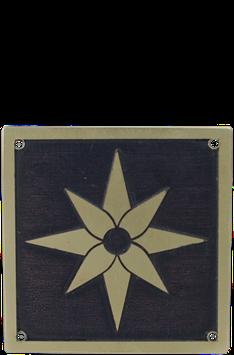 Beschlag Quadrat Magica Brüniert