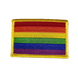 Regenbogen-Aufnäher