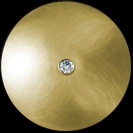 """Knopf """"Juwel"""" Gold Brillant"""