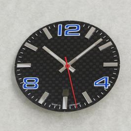 Set: 34.8mm Carbon Zifferblatt mit Zeigern 11/15/16 BGW9 für ETA 2824-2 / set: carbon dial with hands for ETA 2824-2