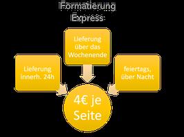 Nur 4€: Expresslieferung binnen 24h, feiertags und wochenends bzw. über Nacht