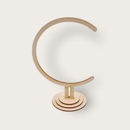 Ständer aus Holz, ca. 19 cm hoch ideal passend für Acrylglaskugeln mit 10 cm Durchmesser lasergeschnitten, mit Haken