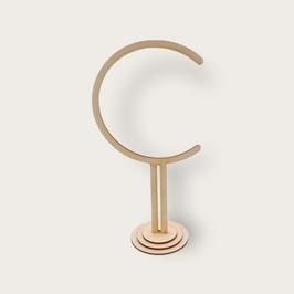 Ständer aus Holz, ca. 26,5 cm hoch ideal passend für Acrylglaskugeln mit 10 cm Durchmesser lasergeschnitten, mit Haken