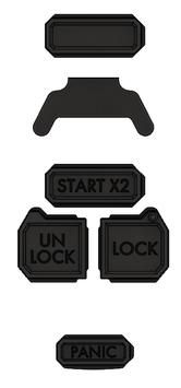 JK-IFOP1BT 【Wrangler JK キーケース Injection Fob用】オプションボタンセット
