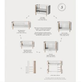 Oliver Furniture Wood Mini+ Umbauset vom Halbhohen Hochbett zum Juniorbett