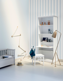 Oliver Furniture Seaside Standregal groß mit Schreibtischplatte