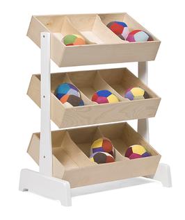 Oeuf Toy Store Spielzeugregal Walnuss/ Weiss