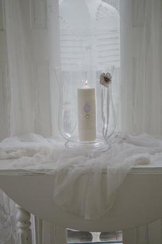 Hochzeitskerze FAIRYTALE im Vasen-Windlicht