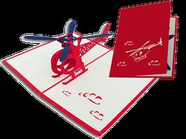 3D Geschenkkarte Helikopter