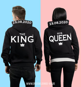 "2 x HOODIES ""THE KING & HIS QUEEN"" + KAPUZENDRUCK"