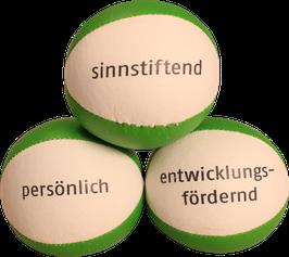 Personalisierte Jonglierbälle mit Text