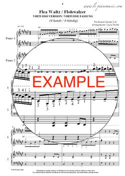 Der virtuose Flohwalzer, 4-händig (The virtuoso Flea Waltz, 4-hands)