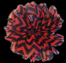 Barko Polo Orange & Black Flower